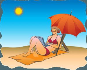 Internet Marketing on Beach